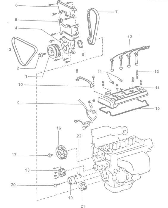Двигатели Toyota 4A-FE (АЕ101,