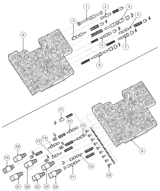 Техобслуживание гидроблока мехатроник коробки автомат ZF 6HP26