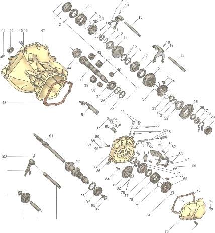 разбор механизме переключения передач в chevrolet lacetti