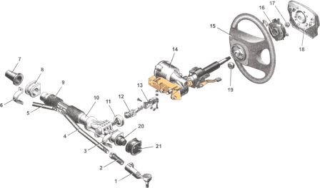 Рулевой механизм лада гранта