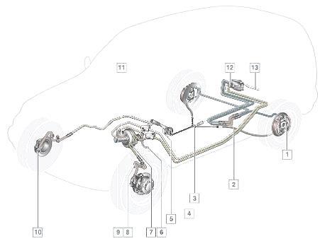 тормозная система автомобиля chevrolet