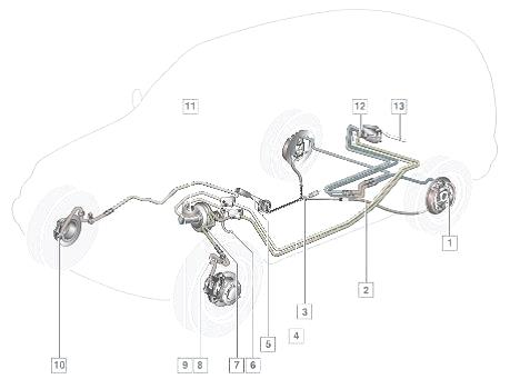 тормозная система шевроле нива схема