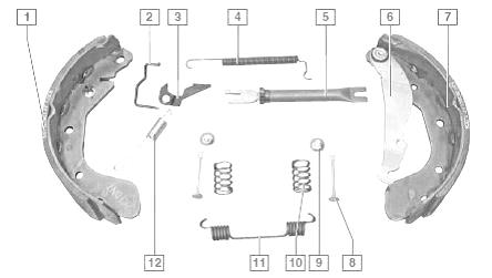 chevrolet lanos регулировка ручного тормоза