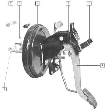 Педаль тормоза — подвесного
